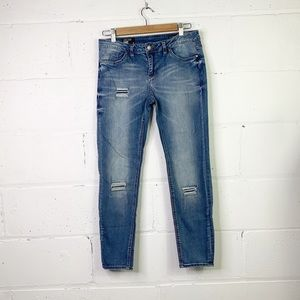 William rast roller crop jeans